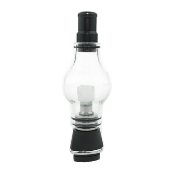 Glass Globe wax atomizer for the original Micro G Pen and Pocket Vape