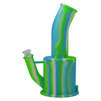 Green Blue White Silicone Teapot Bong for Sale