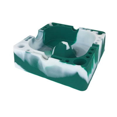 Green and White Silicone Ashtray For Sale - Vape Vet Store