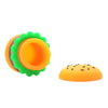 Open Lid View Silicone Hamburger Dab Container