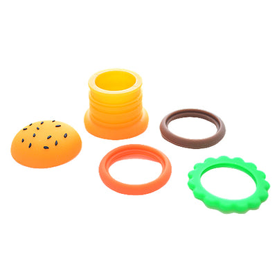 Silicone Hamburger Dab Container Separated