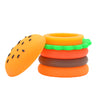 Lid Off Side View of Silicone Hamburger Dab Container