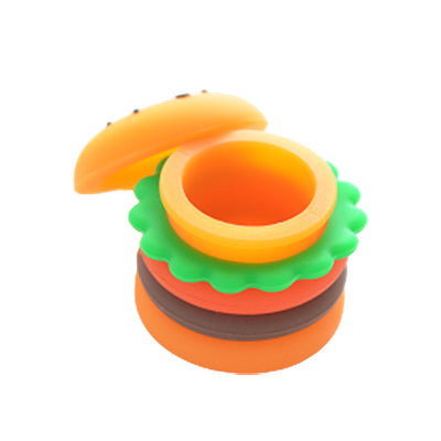 Top View with Lid Off Silicone Hamburger Dab Container