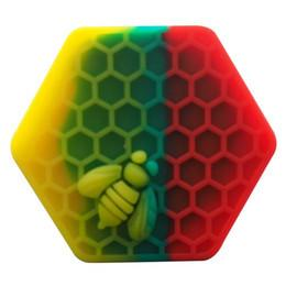 Rasta honeybee hex silicone dab container for shatter and crumble