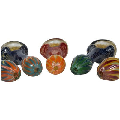 Honeycomb Glass Spoon Pipe Mouthpiece Choices - Vape Vet Store