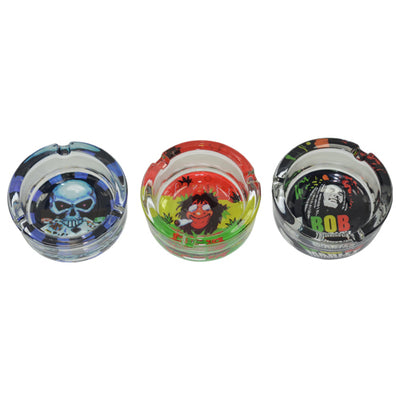 Mini Glass Ashtrays Come in a Variety of Designs