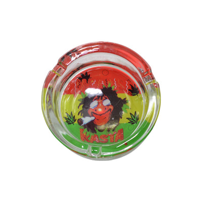 Rasta Mini Glass Ashtray for Sale
