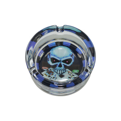 Skull Glass Ashtray for Sale