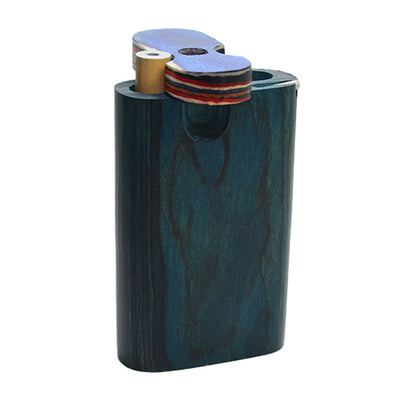 Mini Wooden Dugout Pipe Blue Wood