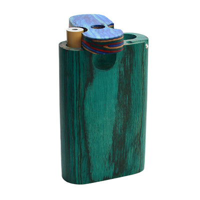 Mini Wooden Dugout Pipe Green Wood