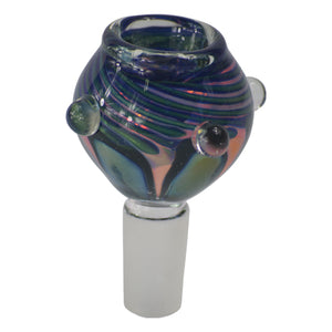 bluish Bong Bowl 14MM for Dry Herbs