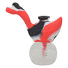 Red Black and White Swan Silicone Bubbler Pipe For Sale