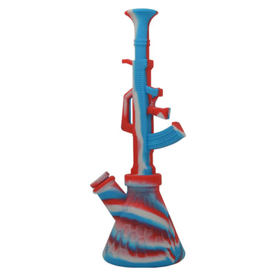 Red White and Blue AK47 Silicone Dab Rig For Sale
