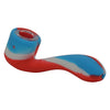 Red Blue White Silicone Sherlock Pipe