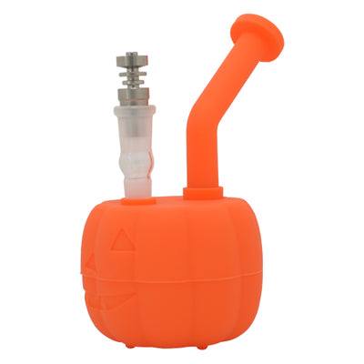 Silicone Pumpkin Dab Rig works with Titanium Nails