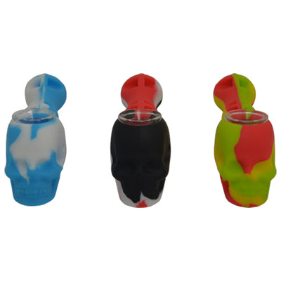 Skull Design Silicone Spoon Pipe Comes in a Variety of Colors