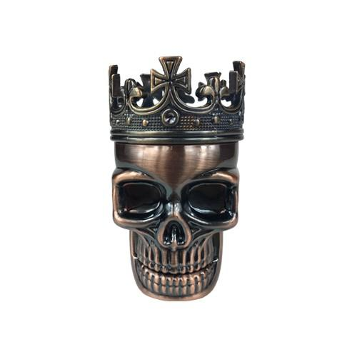 2 Piece Skull Grinder made of Stainless Steel - Vape Vet Store