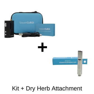 SteamCloud Box Mod Kit With Dry Herb Cartridge