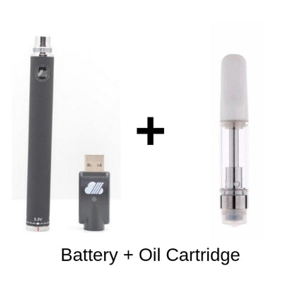 SteamCloud EVOD Vape Battery with Oil Cartridge