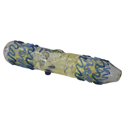 Blue Squiggly Glass Steamroller Pipes for Sale