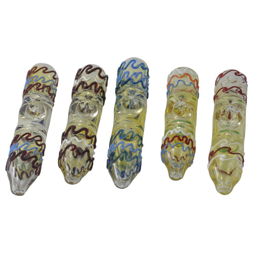 Squiggly Glass Steamroller Pipes for Sale