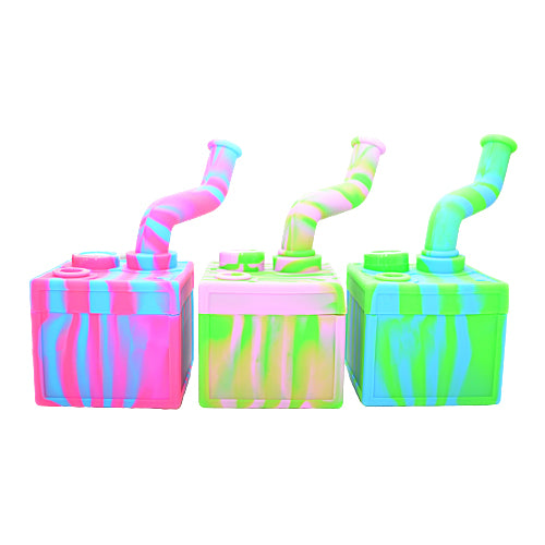 Three Different Colors of Silicone Utility Box Dab Rigs