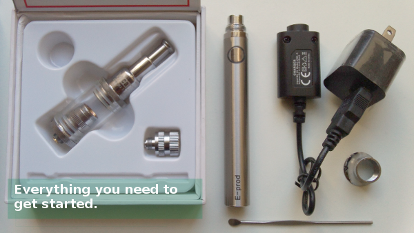 Yocan ExGo 2 complete kit. Everything you need to vape your shatter and wax concentrates