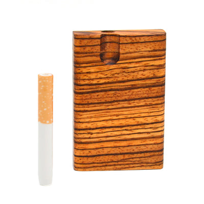 Zebrawood Dugout Pipe Ceramic One Hitter