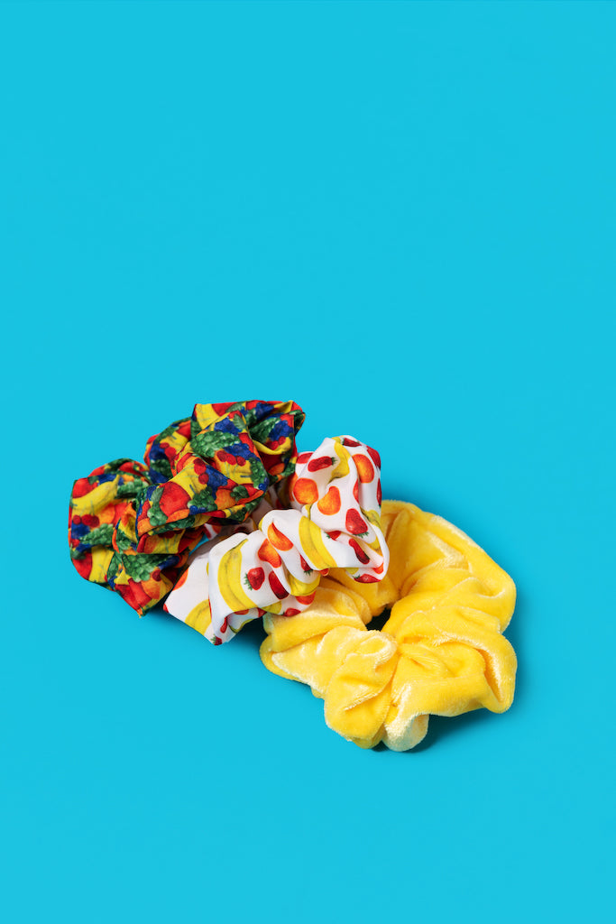Mixed Fruit 3-pk Scrunchies