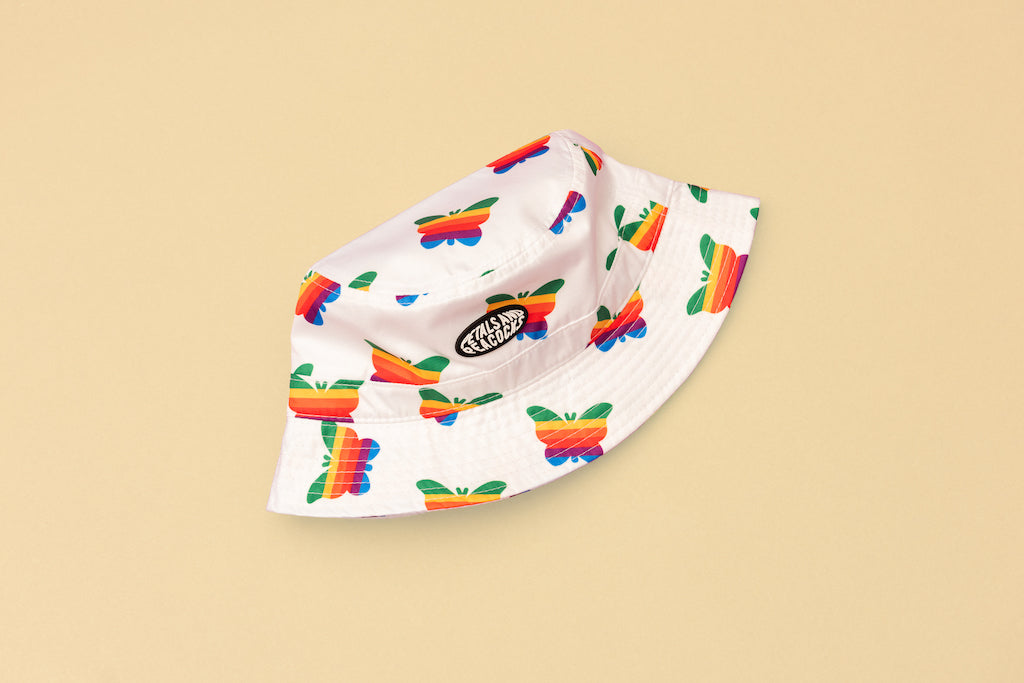 Think Growth Bucket Hat in White