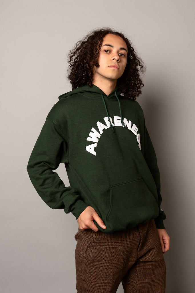 Awareness Hoodie in Forest Green