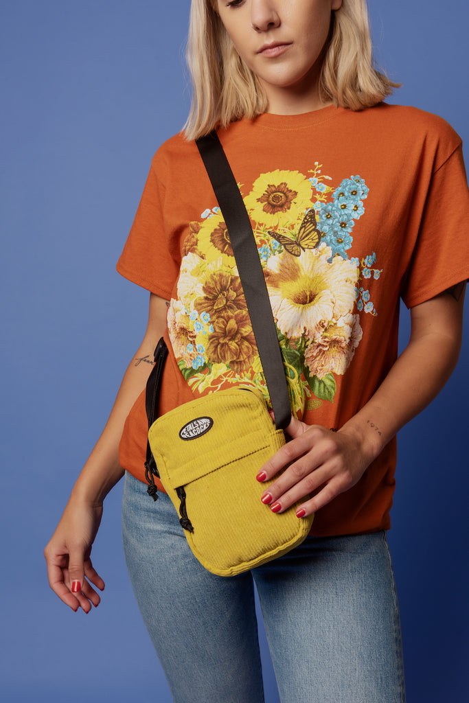 Corduroy Shoulder Bag in Mustard