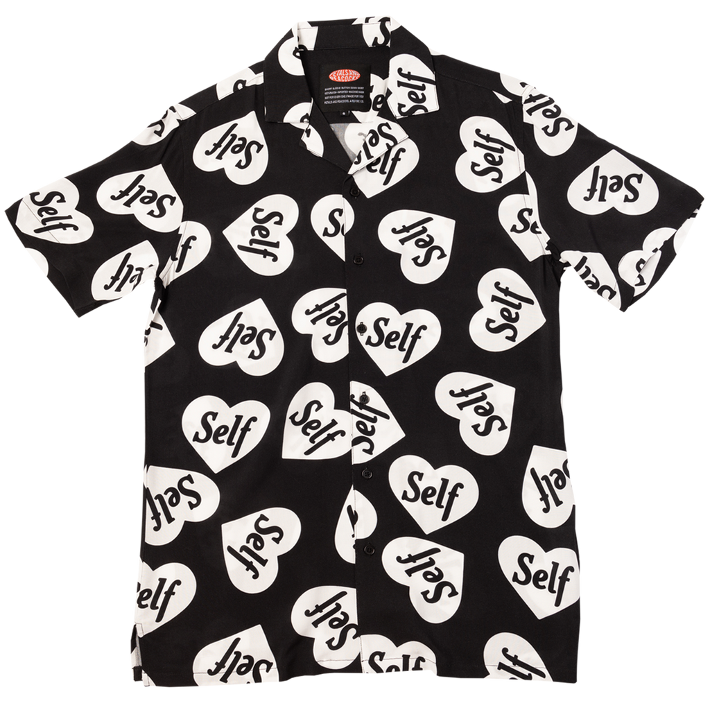Self Love Heart Vacation Shirt in Black