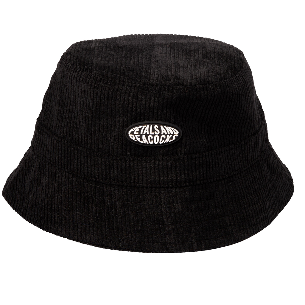 Corduroy Bucket Hat in Black