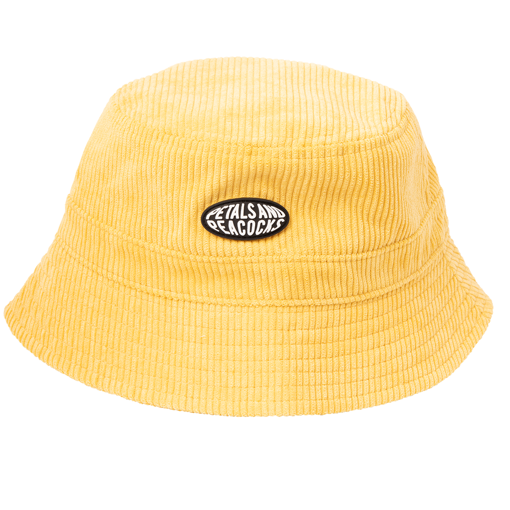 Corduroy Bucket Hat in Mustard