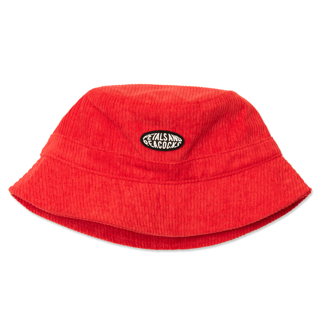 Corduroy Bucket Hat in Red