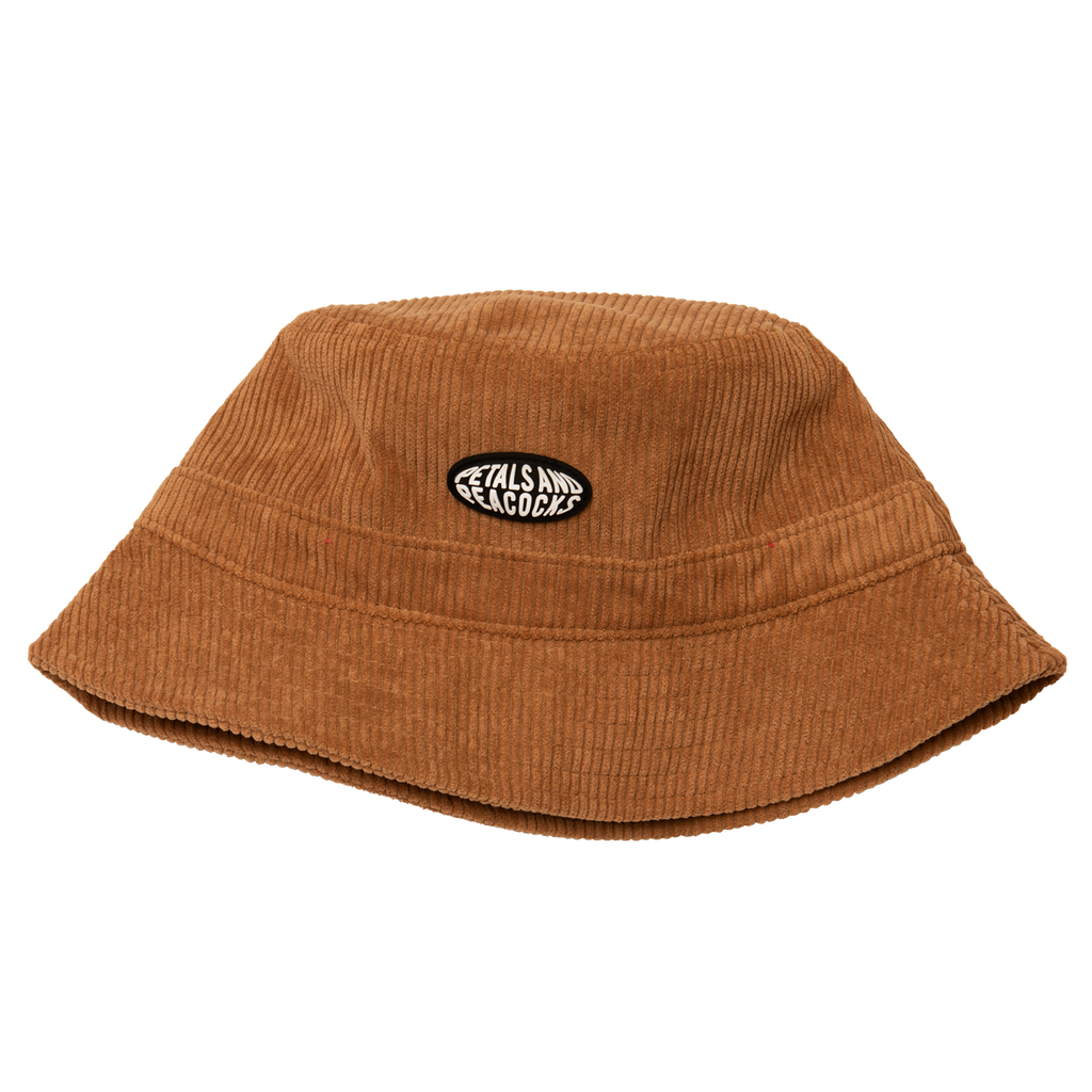 Corduroy Bucket Hat in Camel Brown