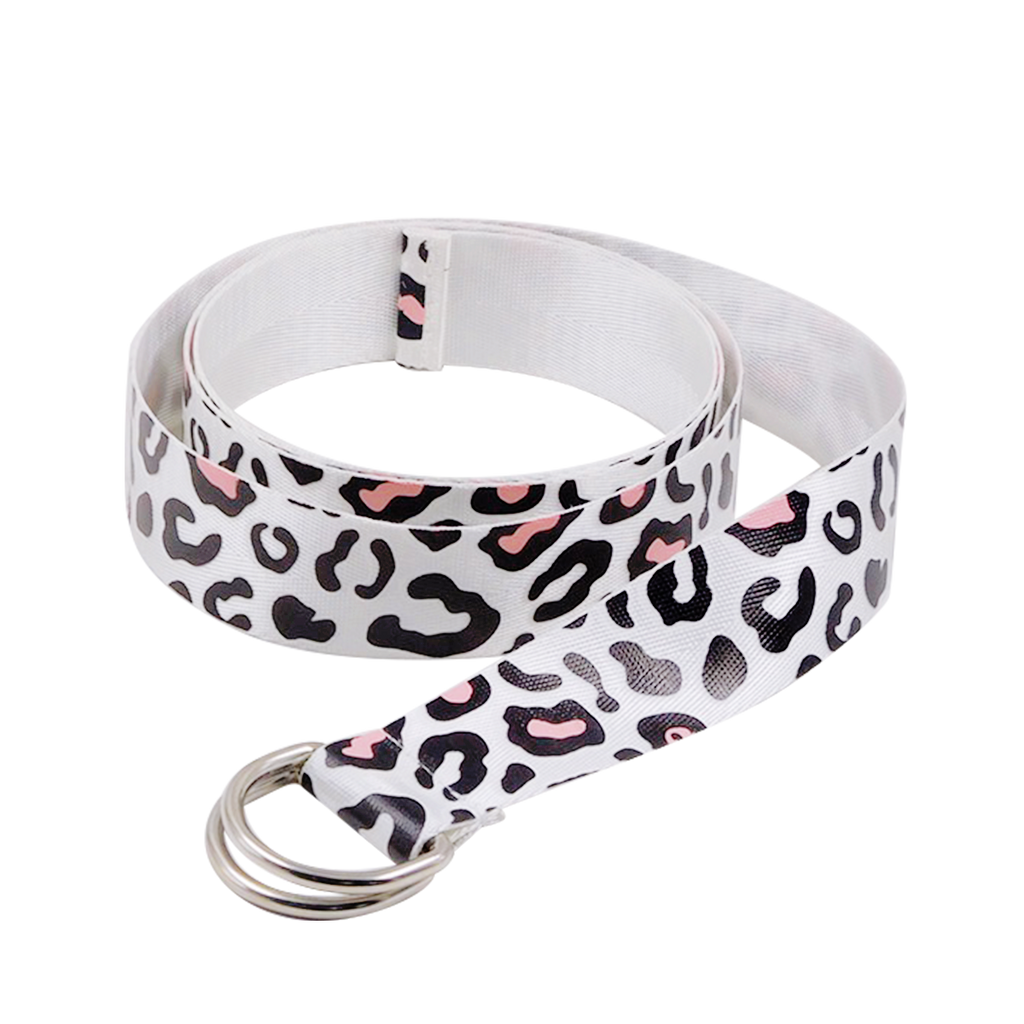 Leopard Belt in Pink and White