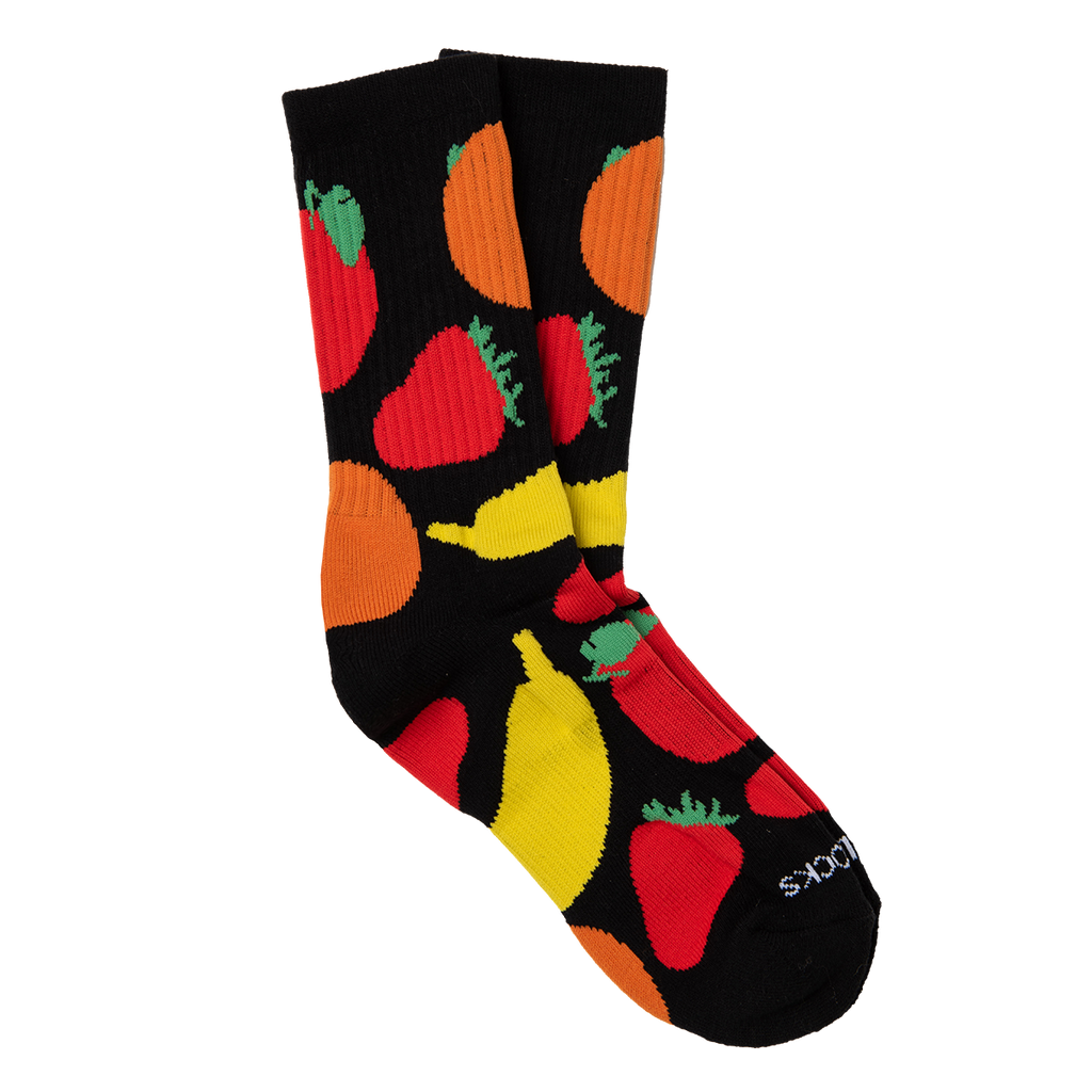 Mixed Fruit Socks in Black