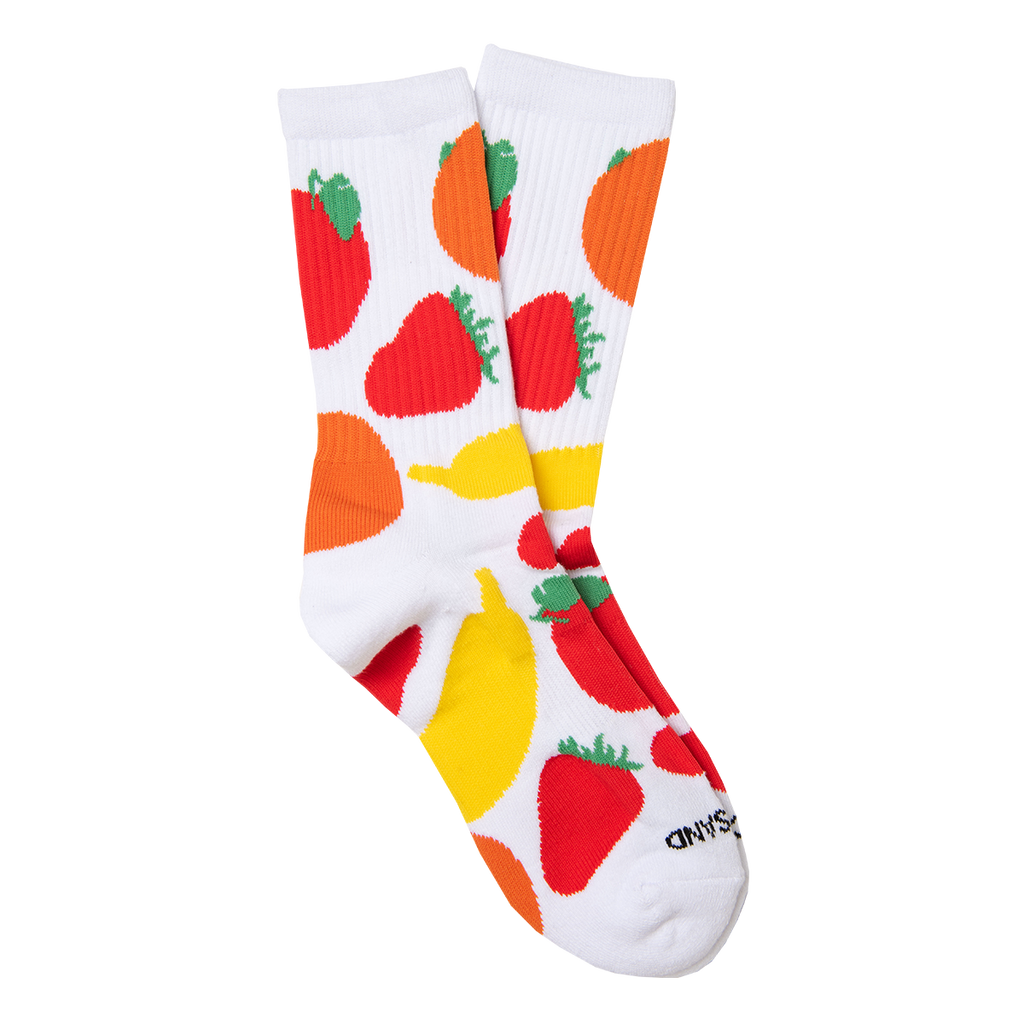 Mixed Fruit Socks in White
