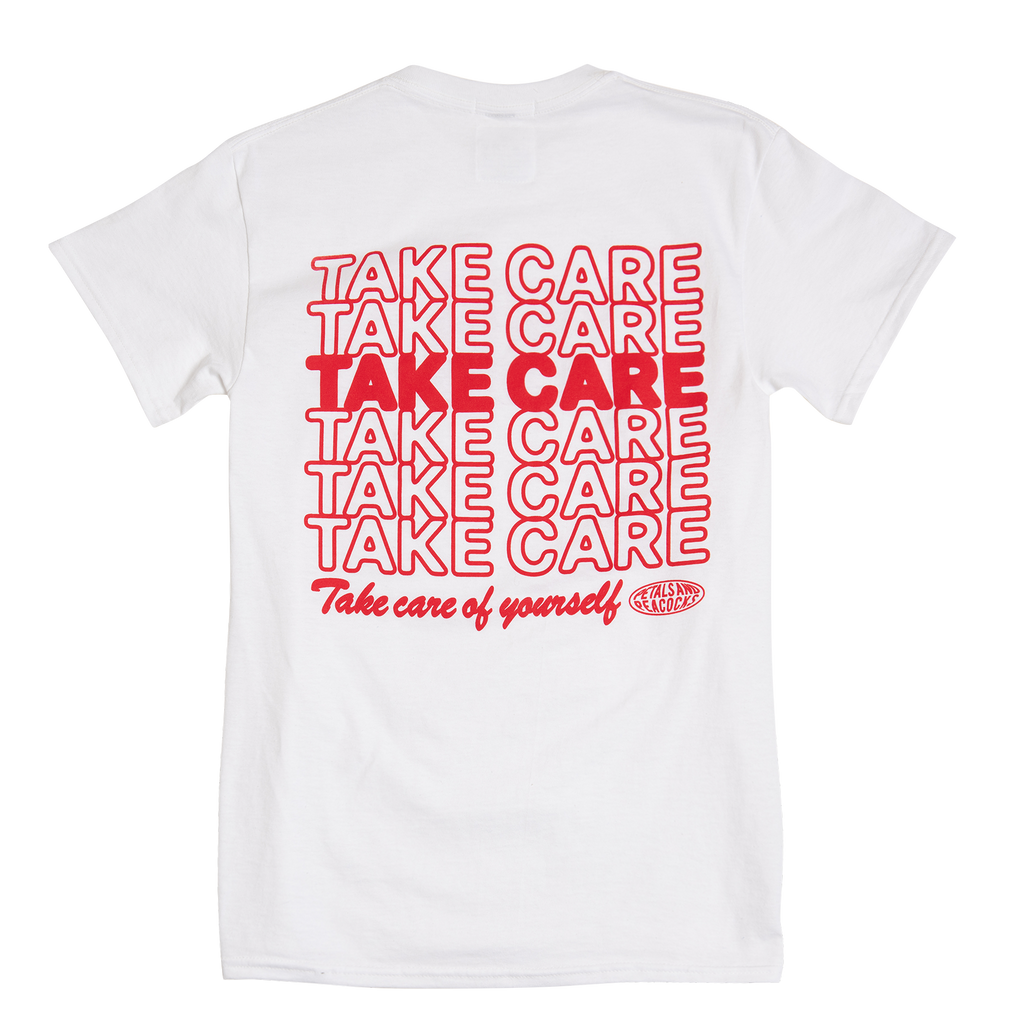 Take Care Tee in White