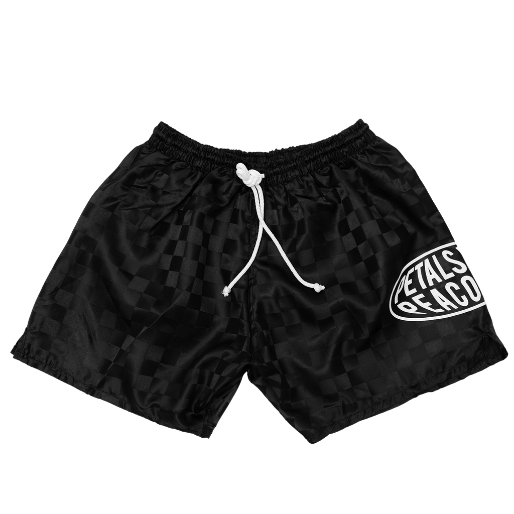Petals Globos Shorts in Black