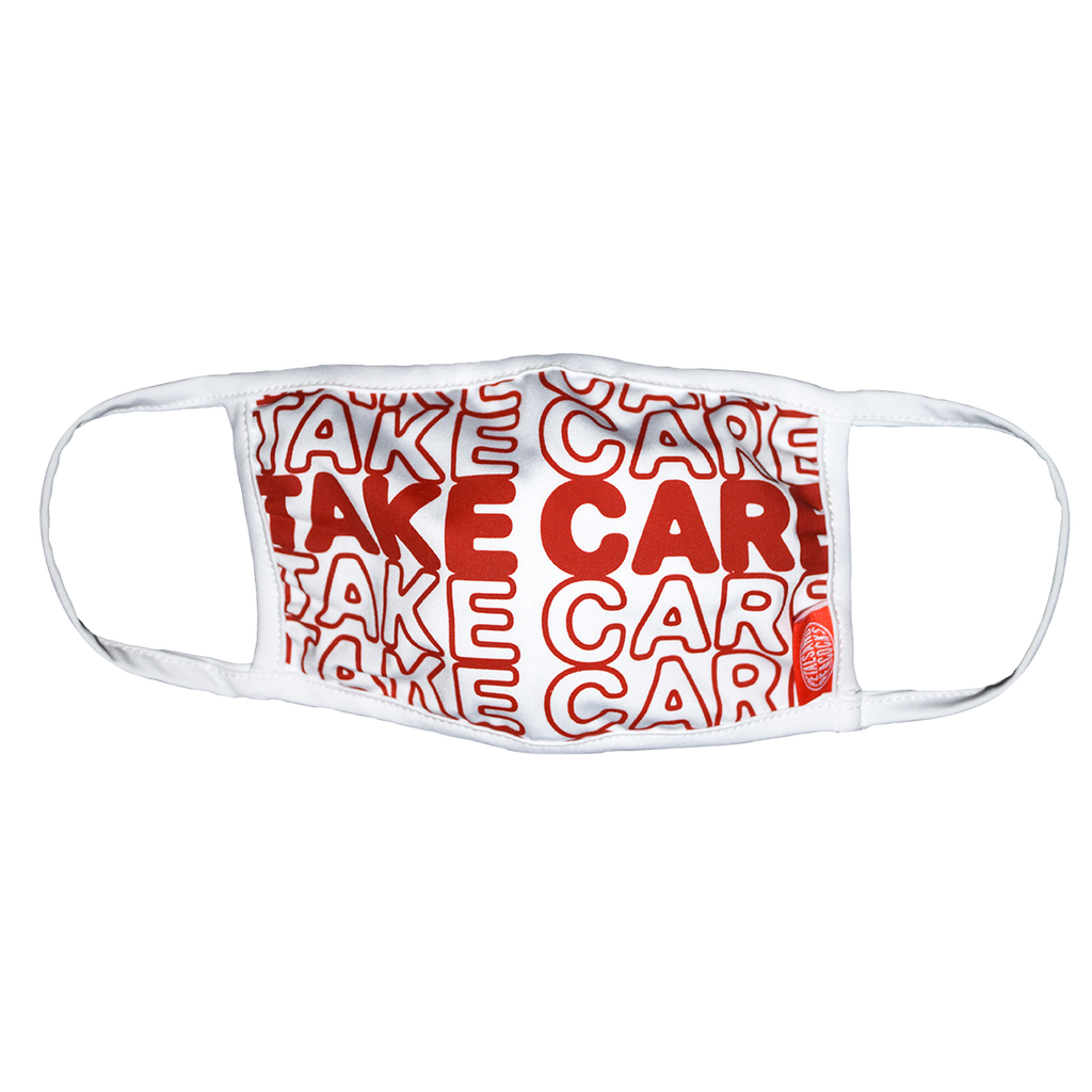 Take Care Face Cover in White