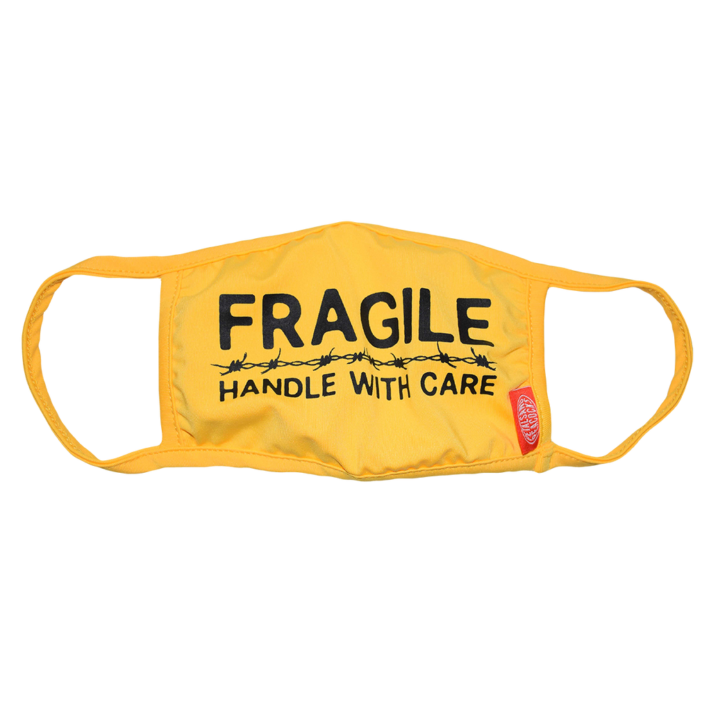 Handle With Care Face Cover in Yellow