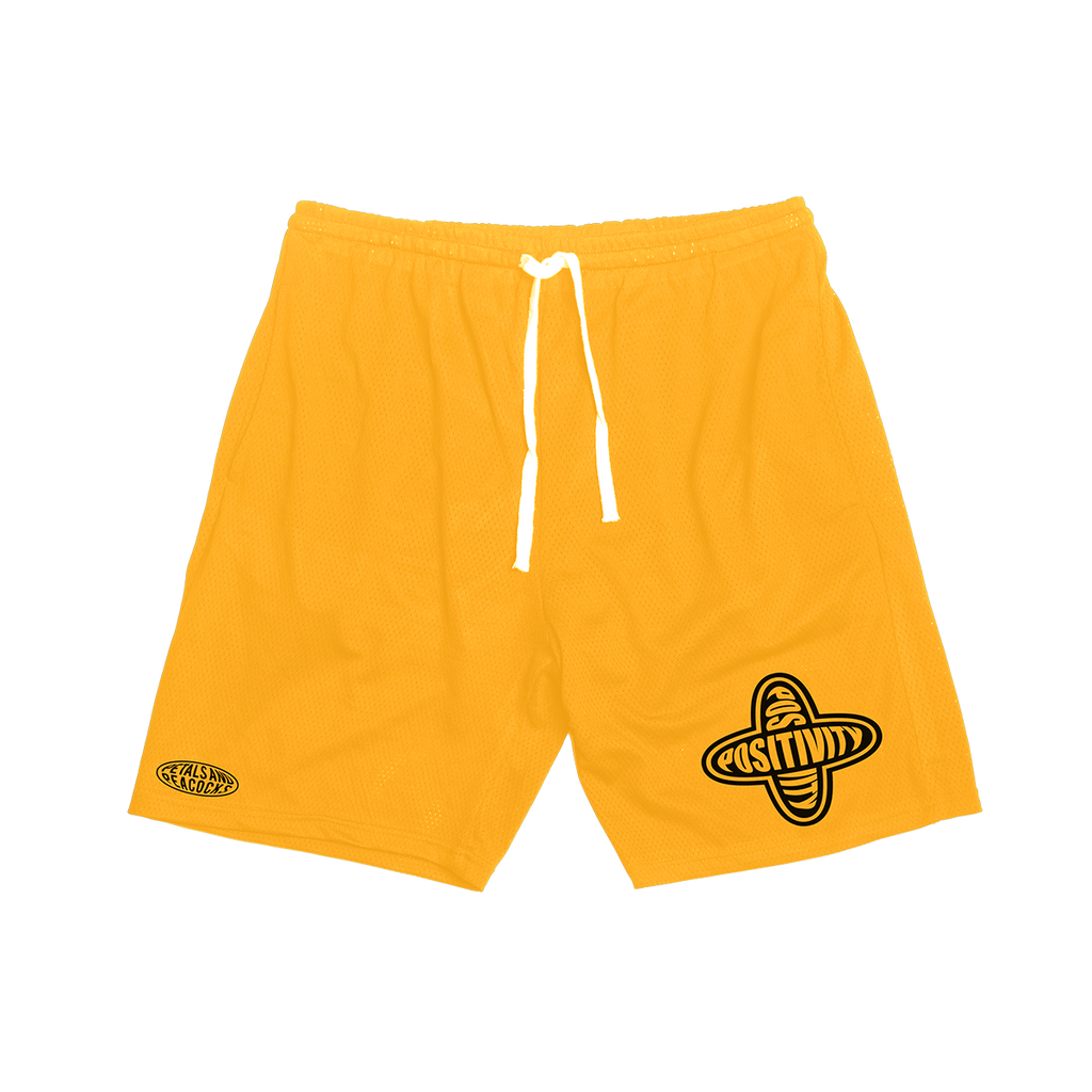 Positivity Mesh Shorts in Yellow