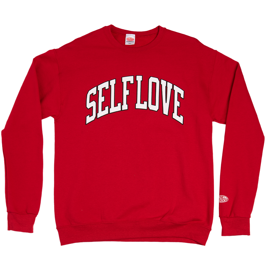 Self Love Sweatshirt in Red