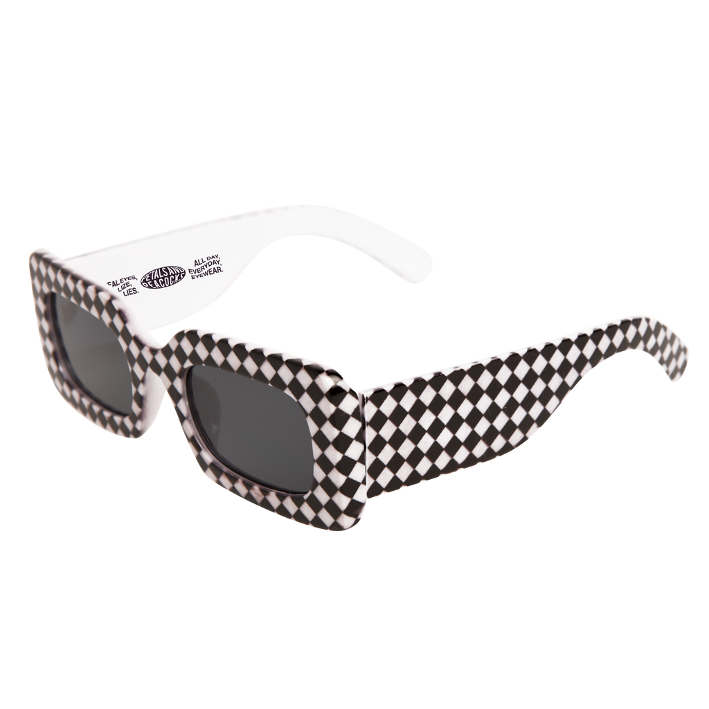 Rhubic Square Sunglasses in Warped Checkered