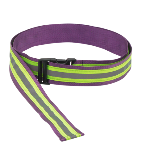 Safety Extended Buckle Belt in Purple