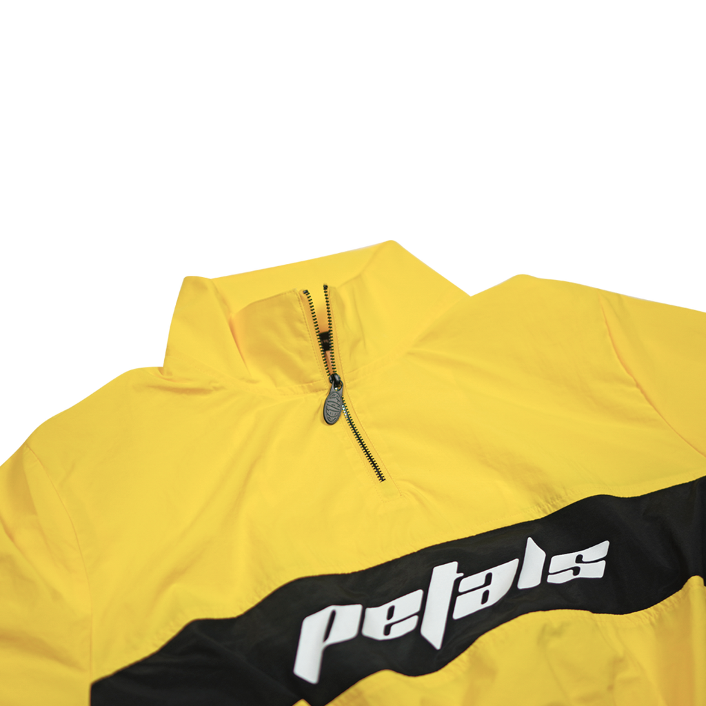 Petals Yellow & Black Crop Windbreaker Jacket