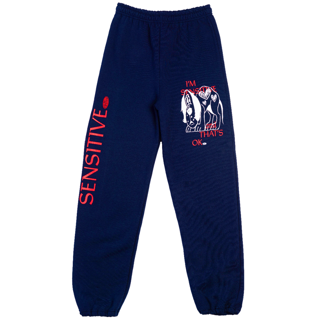 Sensitive Sweatpants in Navy
